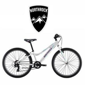 NEW NORTHROCK GS24 GIRL'S BIKE 188324319 BICYCLE 7 SPEED PEARL WHITE