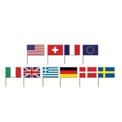 Flag Picks (International Flag Picks 50 Pack Olympics Travel Party)