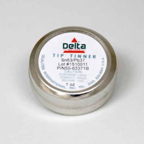 NEW Qualitek Delta Soldering Iron Tip Tinner Cleaner Sn63/Pb37 *USA Seller*