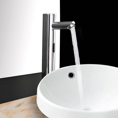 Touchless Electronic Sensor Brass Bathroom Hot/Cold Vessel Sink Faucet in -