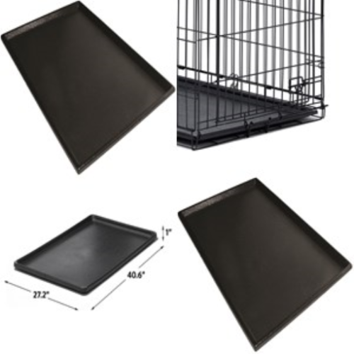 Pet Dog Crate Replacement Pan Plastic Liner Repl Tray 42