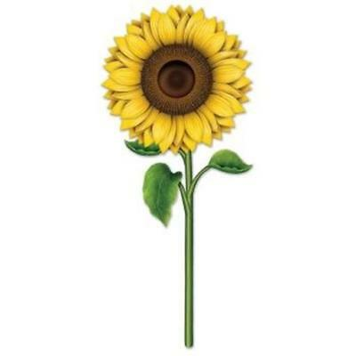 Sunflower 36 Inch Paper Cutout Fall Autumn Thanksgiving Party Decoration - Thanksgiving Parties