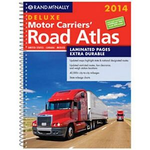 Rand McNally 2014 LAMINATED MOTOR CARRIER'S Trucker's Road ATLAS FAST SHIP