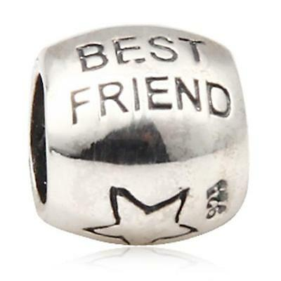 NEW 925 Sterling Silver European Bracelet Charm Bead Best Friend
