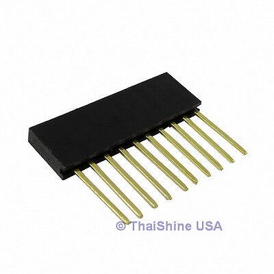 10 x Stackable Header 10 Pins 2.54mm - USA Seller - Free Shipping