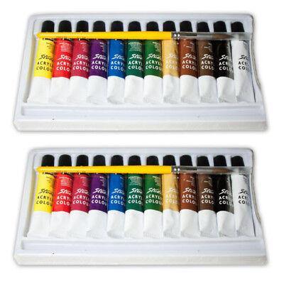 2 Pack Paints (2-pack 12 Ps Acrylic Paint Set Artist Quality Paints Painting Canvas Wood)