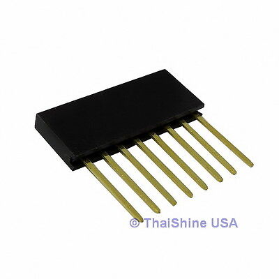 10 x Stackable Header 8 Pins 2.54mm - USA Seller - Free Shipping