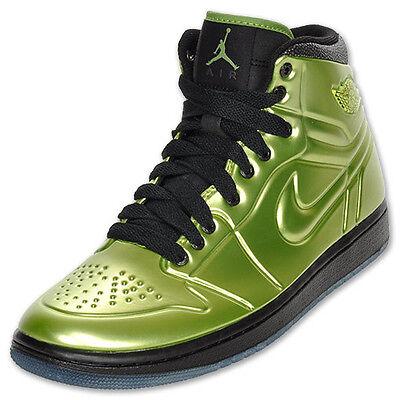 buy popular ec22d aaea2 RARE Nike Air Jordan 1 AJ Anodized Altitude Green Mens Shoes 414823 301  Gold фото