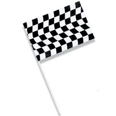 Black & White Checkered Jumbo Plastic Flag Car Racing Birthday Party Decor