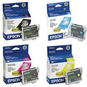 Epson T0441 T0442 T0443 T0444 Ink Carts GENUINE NEW