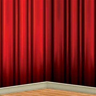 Movie Theater Party Supplies (Red Curtain Backdrop Hollywood Theater Movie VIP Party Birthday)