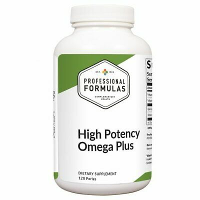 HIGH POTENCY OMEGA PLUS PROFESSIONAL FORMULAS MARINE OILS EPA DHA 3 FATTY ACIDS