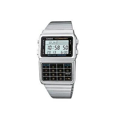CASIO DBC-611-1DF,Taschenrechner,Calculator,Uhr,silber, retro vintage NEU