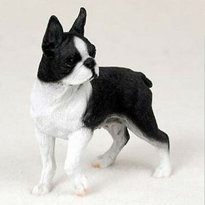 Boston Terrier Statues - BOSTON TERRIER  DOG Figurine Statue Hand Painted Resin Gift Pet Lovers Tan