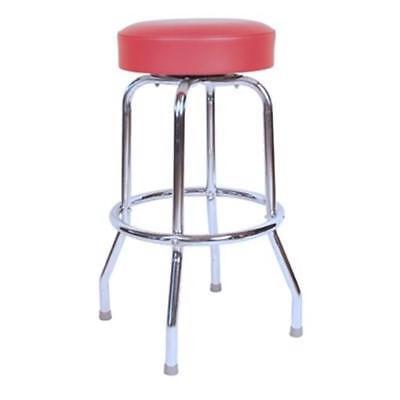 Richardson Seating 1950- 30 in. Floridian Swivel Bar Stool Red - Chrome Richardson 30 Swivel Stool