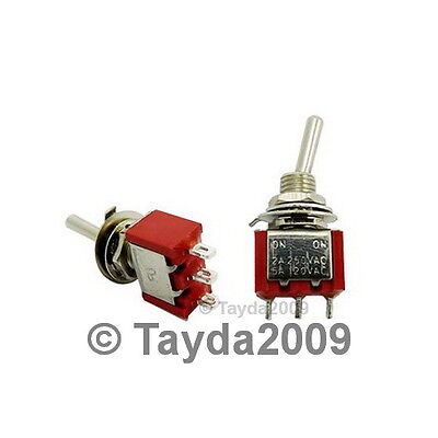 10 X Mini Toggle Switch Spdt On-on - High Quality - Free Shipping