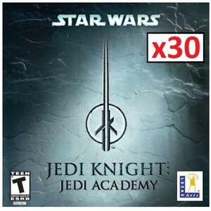 NEW 30PK PC STAR WARS JEDI ACADEMY 221950521 PC JEDI KNIGHT LUCAS ART 1 CASE OF 30 GAMES