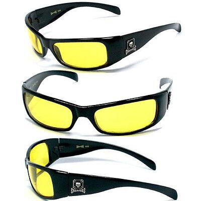 Hot-choppers (HOT CHOPPERS Men Sunglasses - S.Black/Yellow - C11)