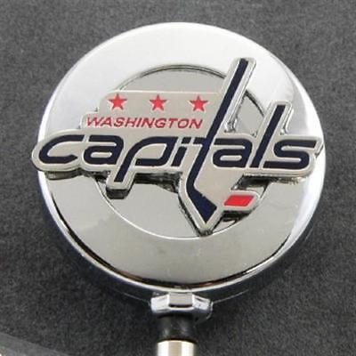 Security Pass Holder - NHL Washington Capitals Retractable ID Badge Reel Security Pass Holder