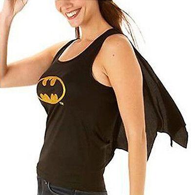 Batgirl Costume Costume da Donna Batman Maglia & Mantella Size 12-14