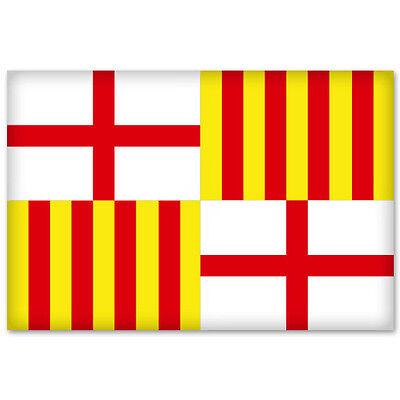 "Barcelona City Flag car bumper sticker window decal 5"" x 3"""