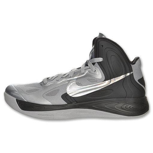Nike Men's NIKE HYPERFUSE BASKETBALL SHOES 13 (WOLF GREY/METALLIC SILKVER/BLCK)