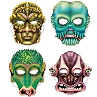 Alien Paper Masks 4 Pack Outer Space Boy Party Decoration Favor Prop for sale  Warren