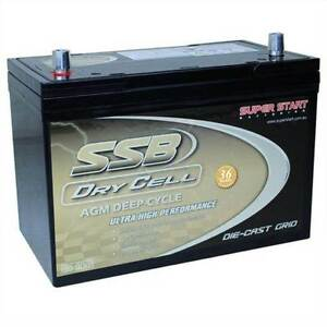 SSB HVT-70ZZD Deep Cycle 105ah AGM Cranking 780cca 3 yr warranty Adelaide CBD Adelaide City Preview