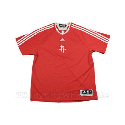 Adidas NBA Men's Houston Rockets Shooting Shirt, Red Adidas Shooting Shirts