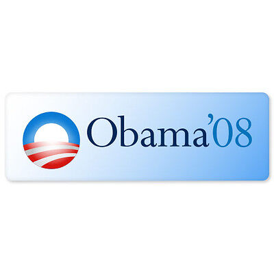 """Barack Obama 08 Democratic bumper sticker decal 9"""" x 3"""""""