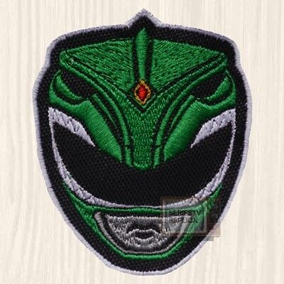 Power Rangers Green Mask Patch TV Series Mighty Morphin Tommy Oliver Embroidered