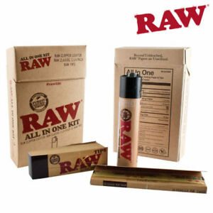 RAW ALL IN ONE KIT RAW CLIPPER LIGHTER, RAW CLASSIC PAPERS & RAW