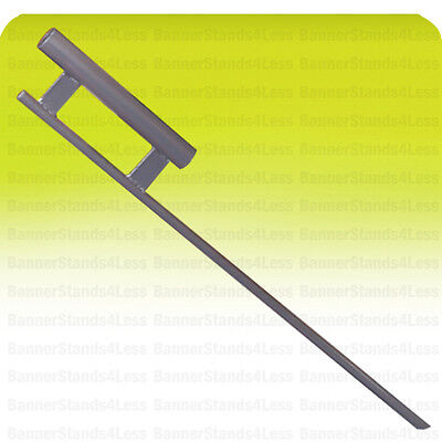 Ground Spike Mount Stake For Feather Flutter Swooper Banner Flag Pole