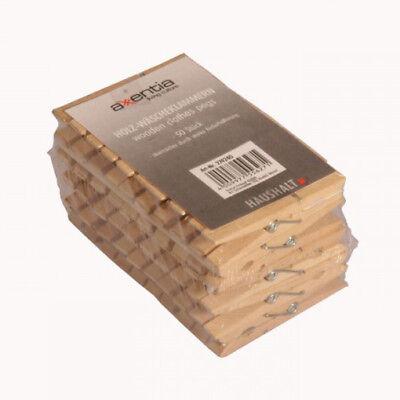 50 XL Holz Wäscheklammern 7,5cm Klammern Holzklammern  Holzwäscheklammern