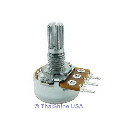 5 X B10k 10k Ohm Linear Taper Rotary Potentiometers 10kb Pot - Usa Seller