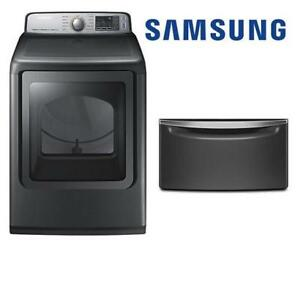 "USED* SAMSUNG ELECTRIC DRYER DVE50M7450P/AC 206493822 7.4 CU. FT. 27"" HOME APPLIANCE"