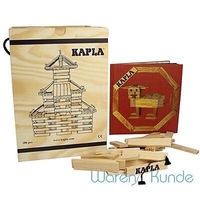 | KAPLA 280 Box + Kunstbuch rot | Holzbaukasten Bausteine Kappla Holz Bauklötze