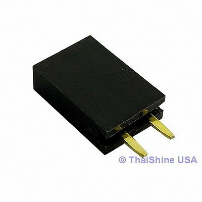 10 X 2 Pin 2.54mm Single Row Female Pin Header - Usa Seller - Free Shipping