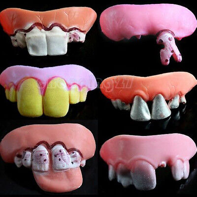 New Halloween Funny Tricky props Fake Buck Goofy Rotten Teeth Decayed tooth](Halloween Rotten Teeth)