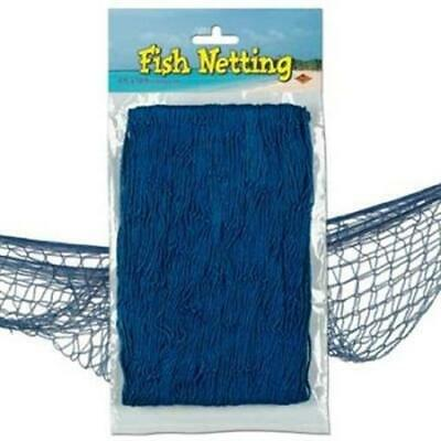 Fish Netting Blue Nautical Cruise Party Birthday Decoration - Nautical Birthday Party
