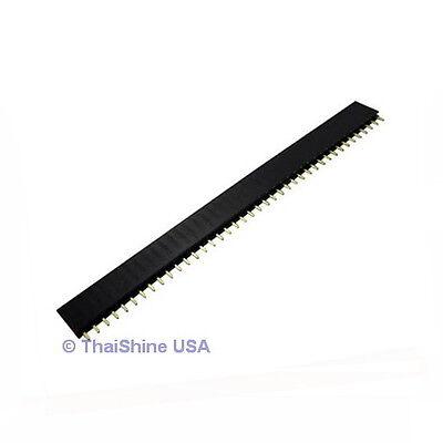 10 pcs 1x40 Pin 2.54 mm Single Row Female Pin Header