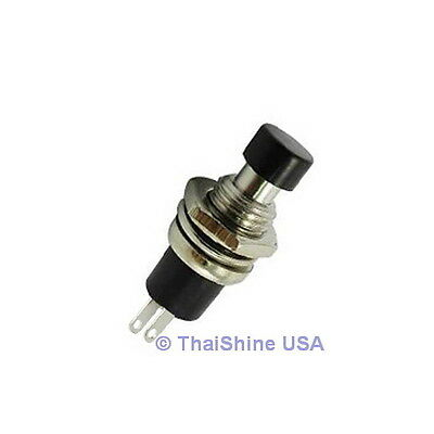 3 X Momentary Push Button Switch Dc 50v 0.5a Black Knob - Usa Seller Free Ship
