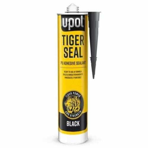 U-POL+Tiger+Seal+BLACK+PU+Adhesive+Sealant+Seam+Trim+310ml