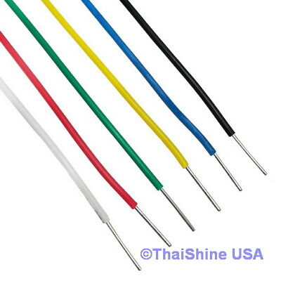 10ft Awg 22 Black Hook-up Wire 300cm Stranded - Usa Seller - Free Shipping