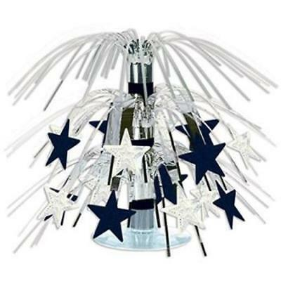 Black and Silver Stars Mini Cascade Centerpiece VIP Party Birthday Decoration (Silver Stars Decorations)
