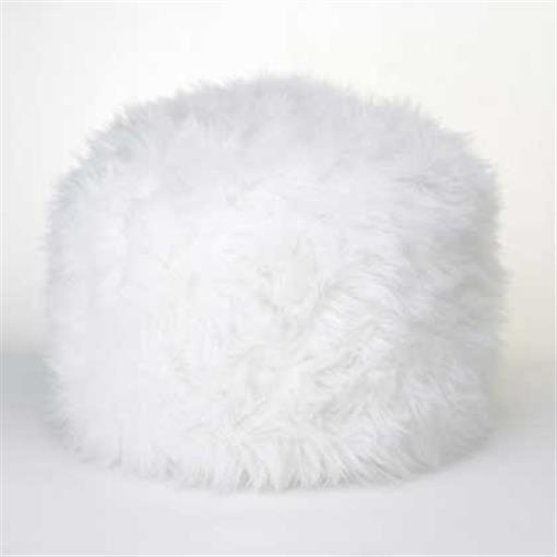 Stupendous Details About Home Locomotion 10015183 Fuzzy White Ottoman Footstool Machost Co Dining Chair Design Ideas Machostcouk