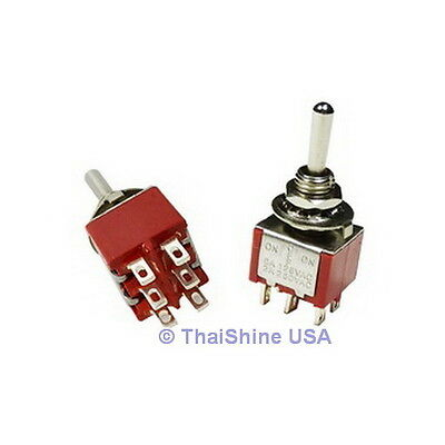 3 x Mini Toggle Switch DPDT On-Off-On - High Quality - USA SELLER - Free Ship