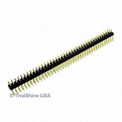 10 pcs. 2x40 Pin 2.54 mm Double Row Pin Header Strip - USA SELLER Free Shipping