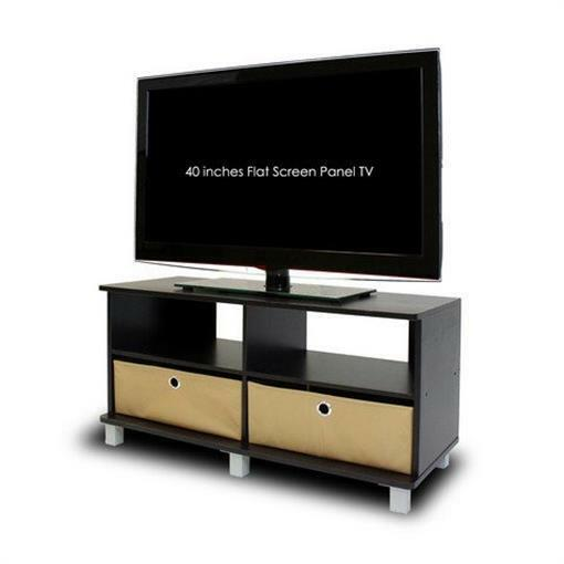 Furinno TV Stand - Up to 50 Screen Support - 40 lb Load Capa