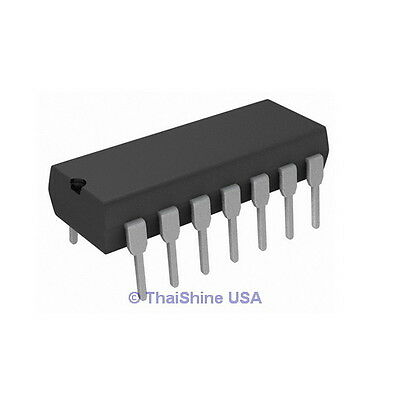 5 X Cd4047 4047 Ic Cmos Monostable Multivibrators - Usa Seller 4 Days Delivery